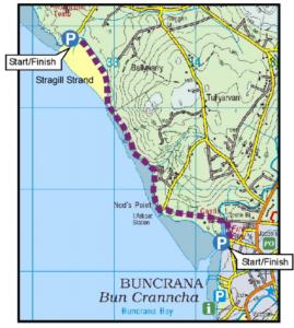 buncrana shore path map