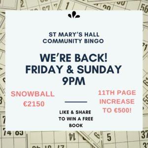 Community Bingo at St Marys Hall Buncrana