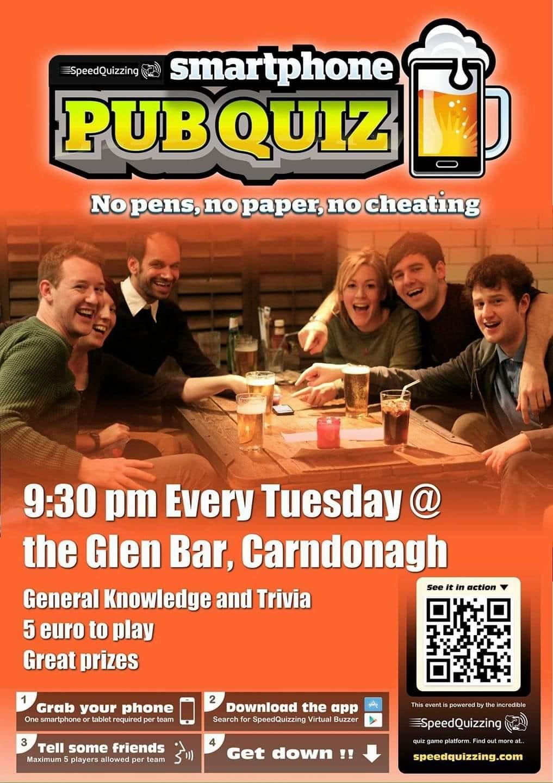 Glen Bar Tuesday Quiz